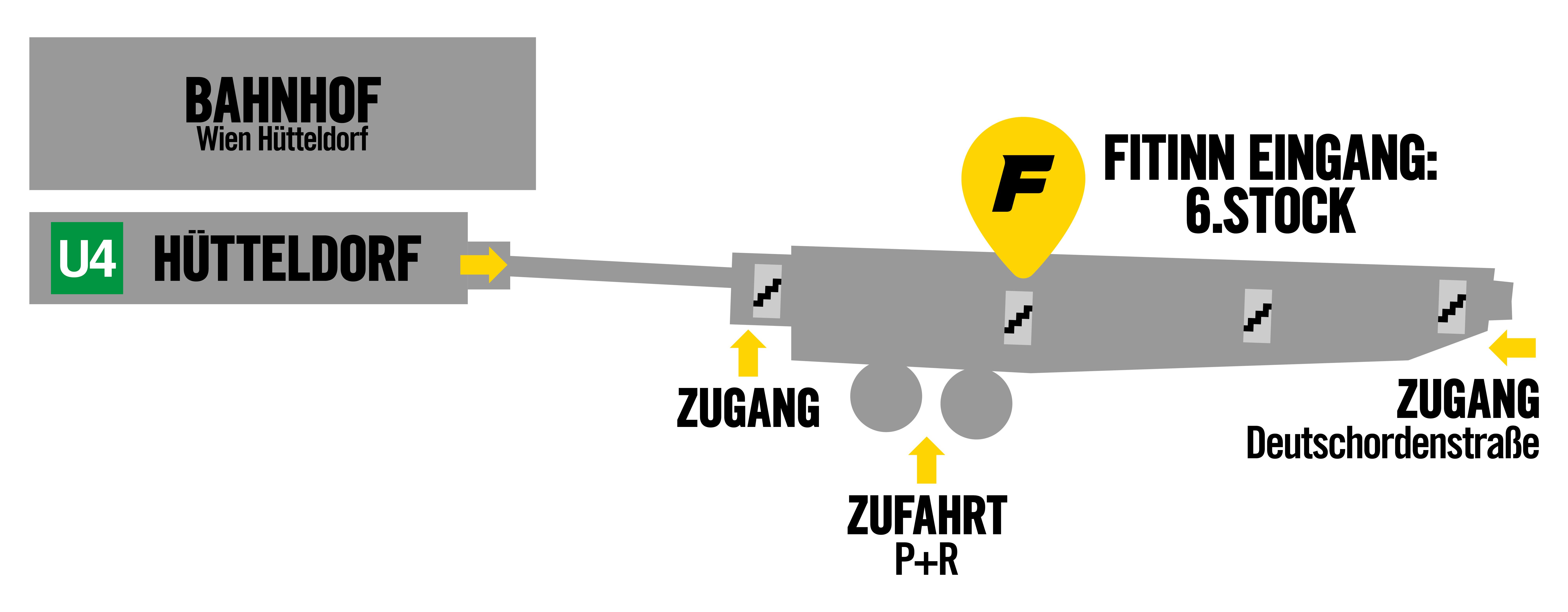 Zugangsskizze FITINN Hütteldorf